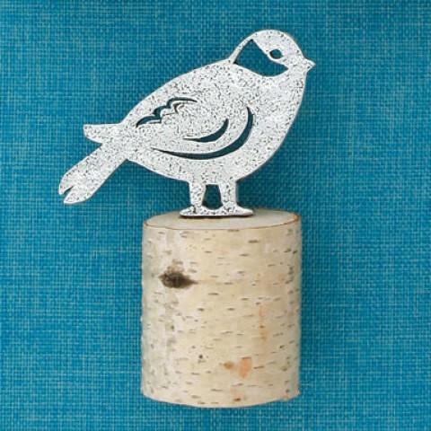 Chickadee on Wood Sculpture